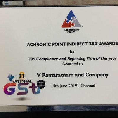 Achromic Point Indirect Tax Award