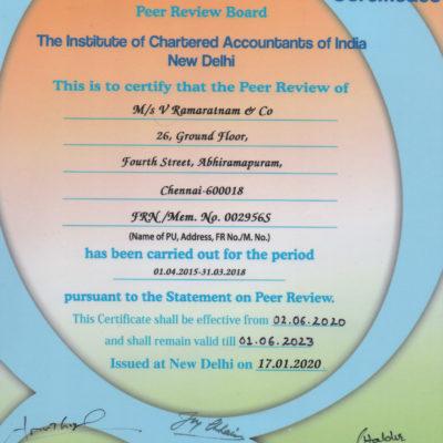 Peer Review Certificate valid until 2023