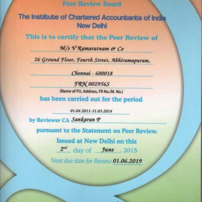 Peer Review Certificate valid until 2019