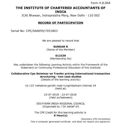 ICAI Participation