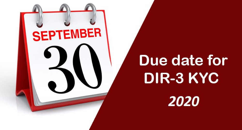 DIR3 KYC Due Dates