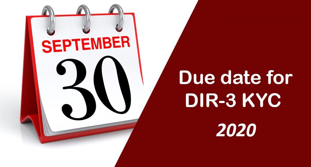 DIR3 KYC Due Dates